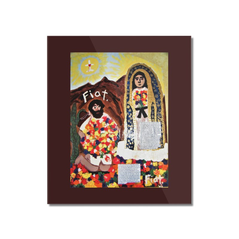 Our Lady of Guadalupe with Juan Diego Home Mounted Acrylic Print by Mary Kloska Fiat's Artist Shop