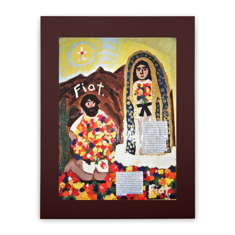 Our Lady of Guadalupe with Juan Diego Home Stretched Canvas by Mary Kloska Fiat's Artist Shop