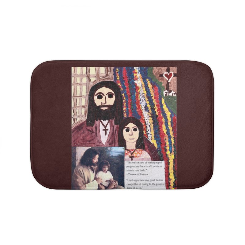 Jesus With Child Home Bath Mat by Mary Kloska Fiat's Artist Shop