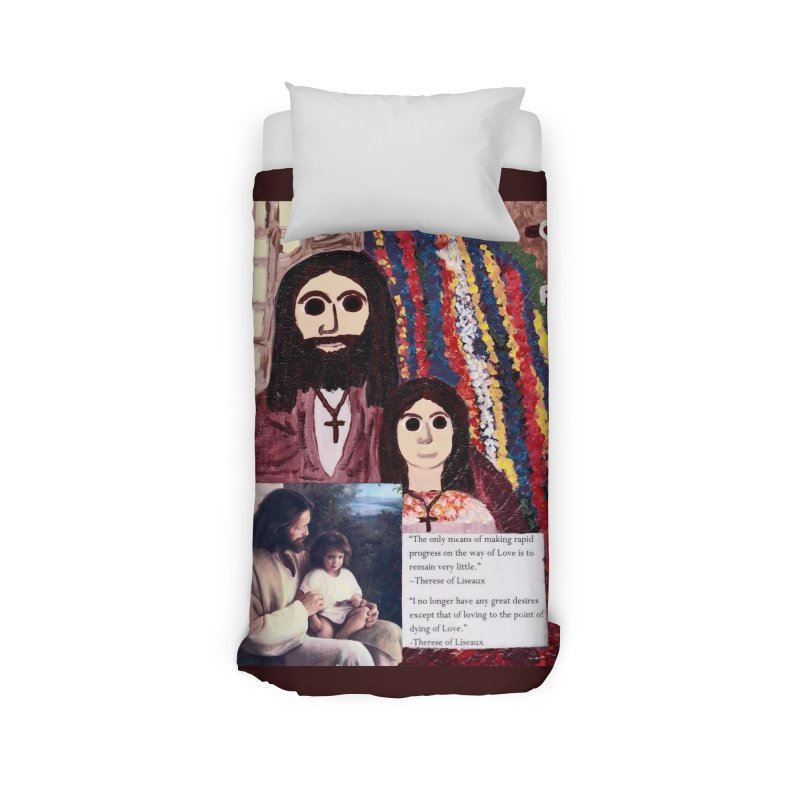 Jesus With Child Home Duvet by Mary Kloska Fiat's Artist Shop