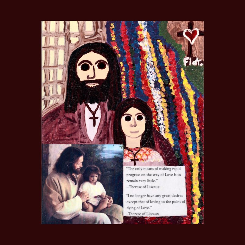 Jesus With Child Home Fine Art Print by Mary Kloska Fiat's Artist Shop