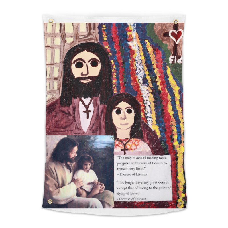 Jesus With Child Home Tapestry by Mary Kloska Fiat's Artist Shop