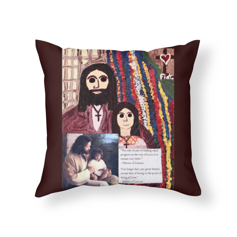 Jesus With Child Home Throw Pillow by Mary Kloska Fiat's Artist Shop