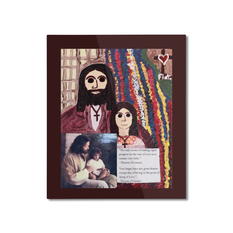 Jesus With Child Home Mounted Aluminum Print by Mary Kloska Fiat's Artist Shop