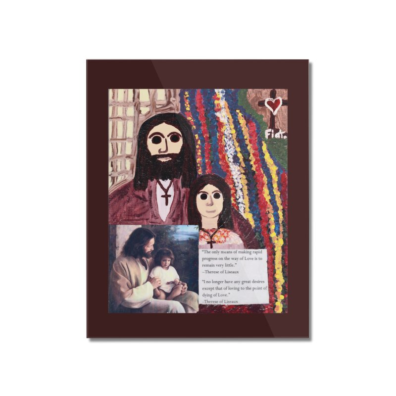 Jesus With Child Home Mounted Acrylic Print by Mary Kloska Fiat's Artist Shop