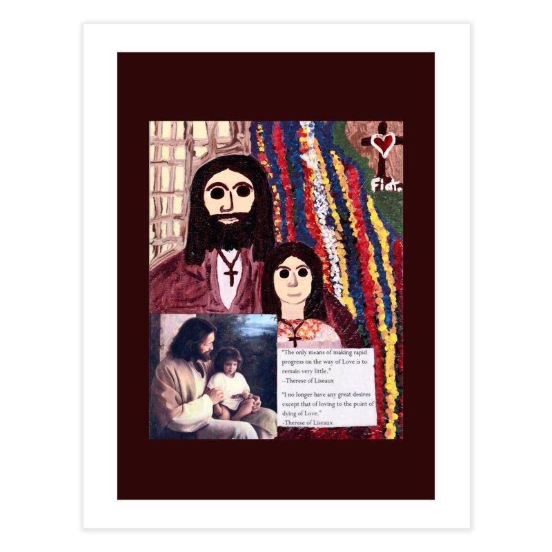 Jesus With Child Home Fine Art Print by Mary Kloska Fiat's Artist Shop