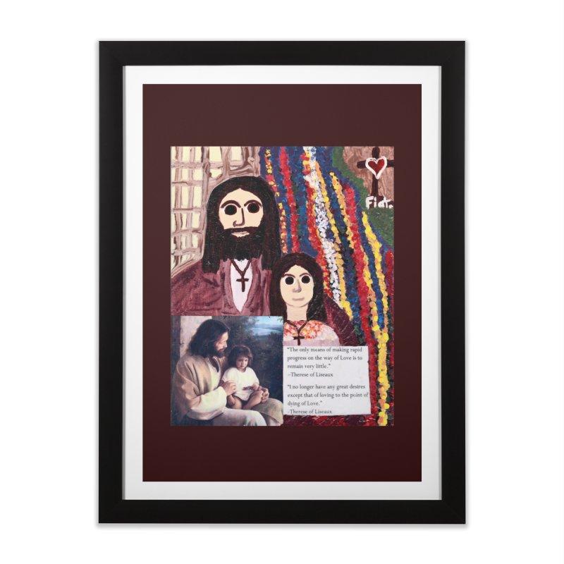 Jesus With Child Home Framed Fine Art Print by Mary Kloska Fiat's Artist Shop