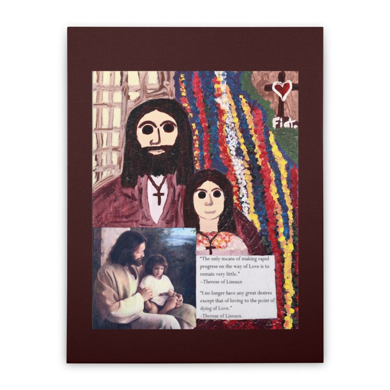 Jesus With Child Home Stretched Canvas by Mary Kloska Fiat's Artist Shop