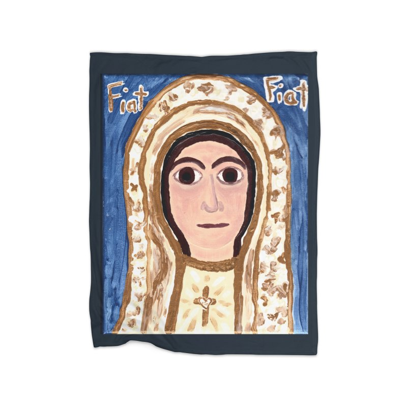 Our Lady of Fatima Home Blanket by Mary Kloska Fiat's Artist Shop
