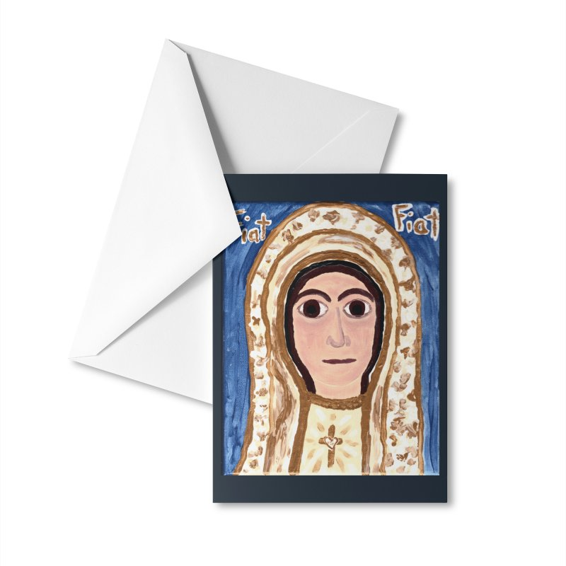 Our Lady of Fatima Accessories Greeting Card by Mary Kloska Fiat's Artist Shop