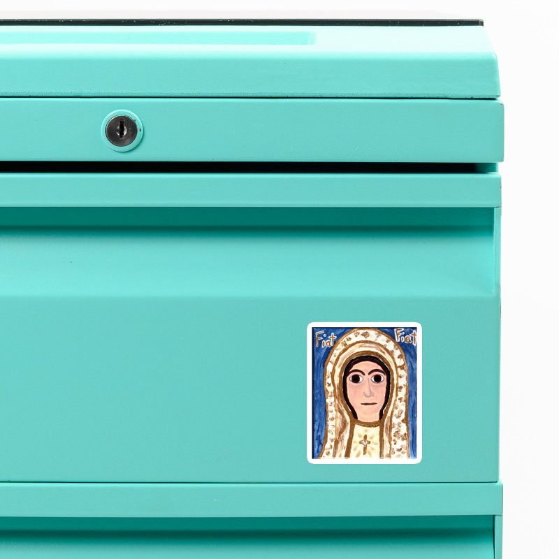 Our Lady of Fatima Accessories Magnet by Mary Kloska Fiat's Artist Shop