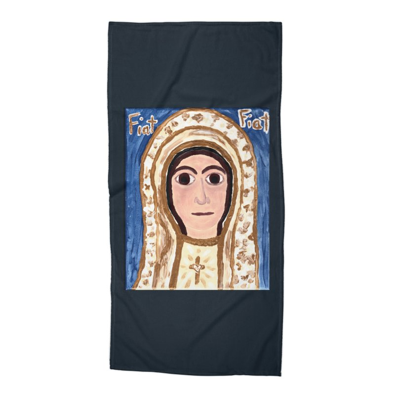 Our Lady of Fatima Accessories Beach Towel by Mary Kloska Fiat's Artist Shop
