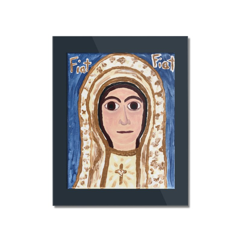 Our Lady of Fatima Home Mounted Acrylic Print by Mary Kloska Fiat's Artist Shop
