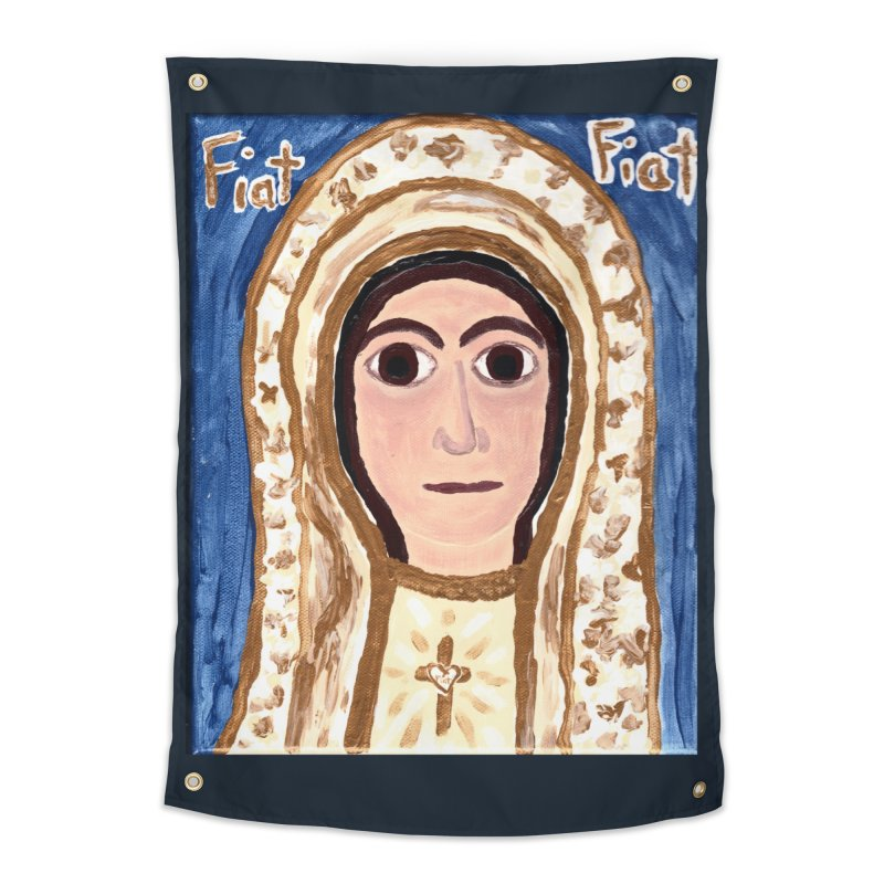 Our Lady of Fatima Home Tapestry by Mary Kloska Fiat's Artist Shop