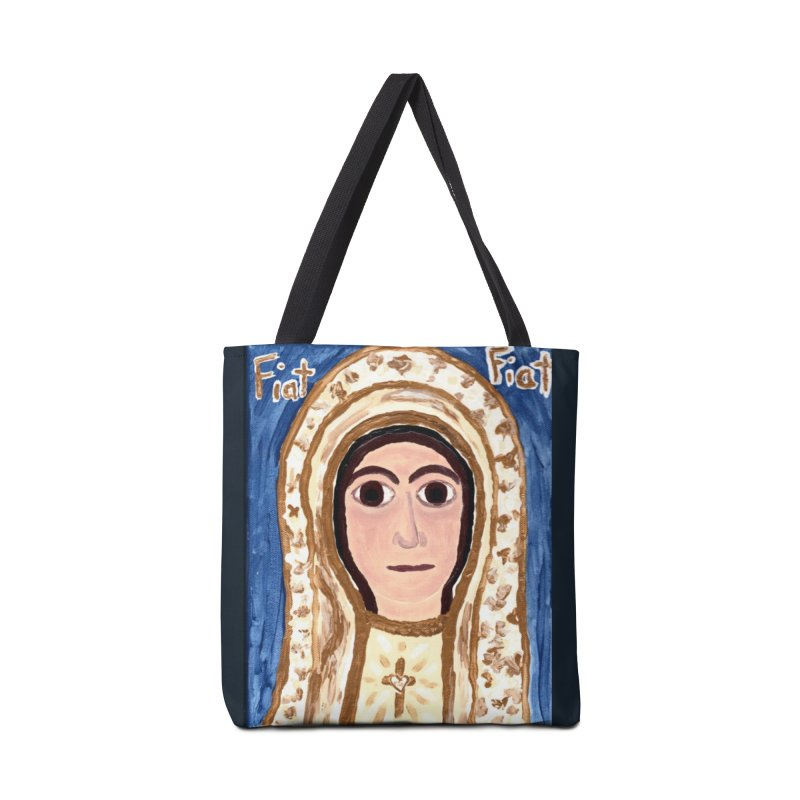 Our Lady of Fatima Accessories Bag by Mary Kloska Fiat's Artist Shop