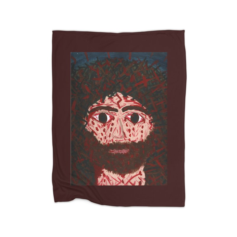 Face of Christ Home Blanket by Mary Kloska Fiat's Artist Shop