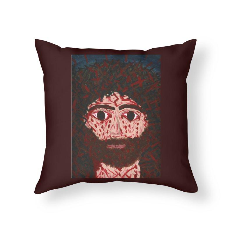 Face of Christ Home Throw Pillow by Mary Kloska Fiat's Artist Shop