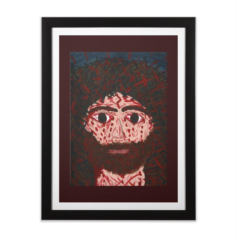 Face of Christ Home Framed Fine Art Print by Mary Kloska Fiat's Artist Shop