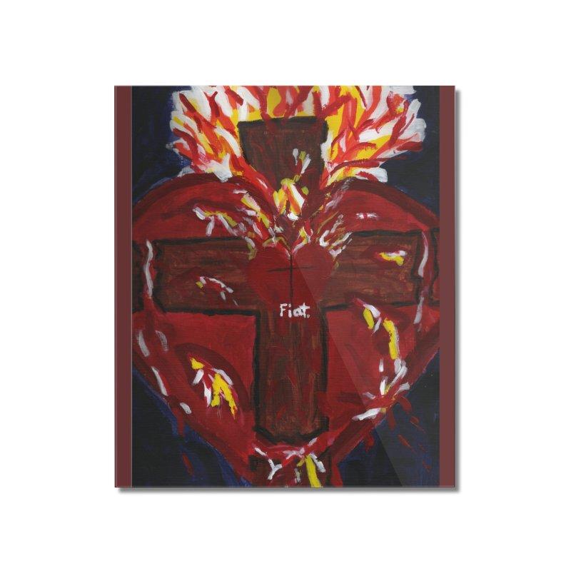 Sacred Heart of Jesus Home Mounted Acrylic Print by Mary Kloska Fiat's Artist Shop