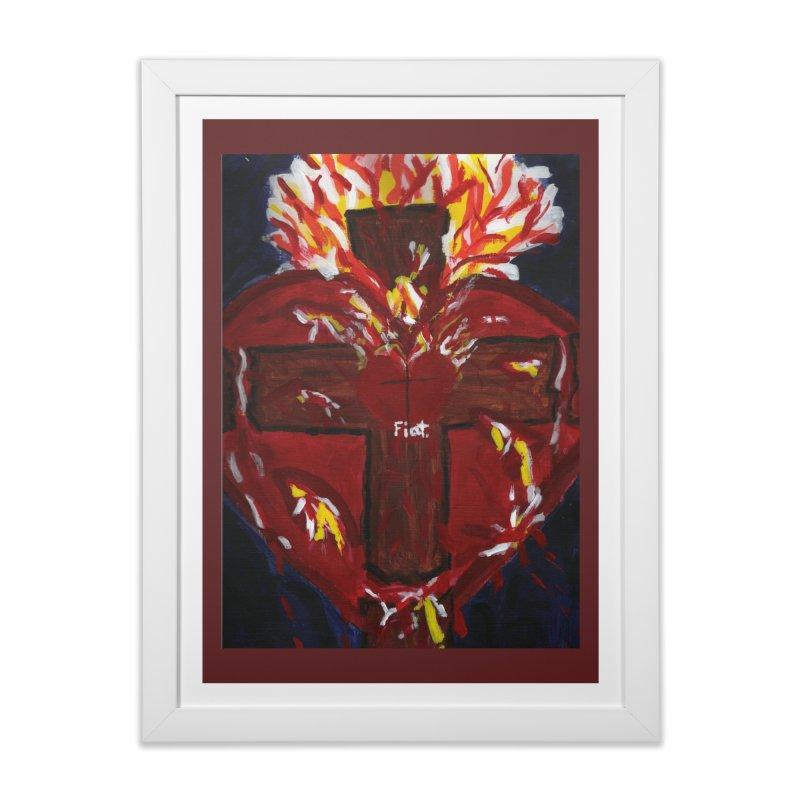 Sacred Heart of Jesus Home Framed Fine Art Print by Mary Kloska Fiat's Artist Shop