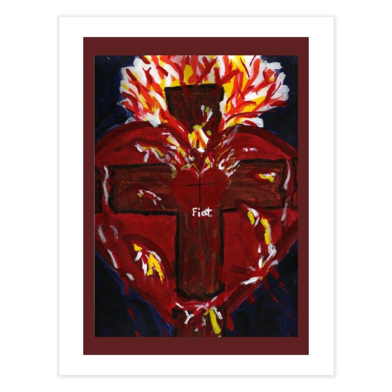 Sacred Heart of Jesus Home Fine Art Print by Mary Kloska Fiat's Artist Shop