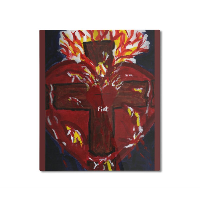 Sacred Heart of Jesus Home Mounted Aluminum Print by Mary Kloska Fiat's Artist Shop