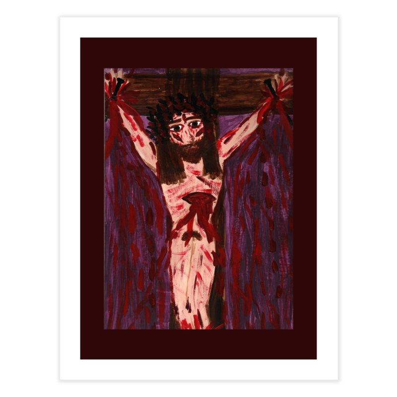 Patient Jesus Crucified Home Fine Art Print by Mary Kloska Fiat's Artist Shop