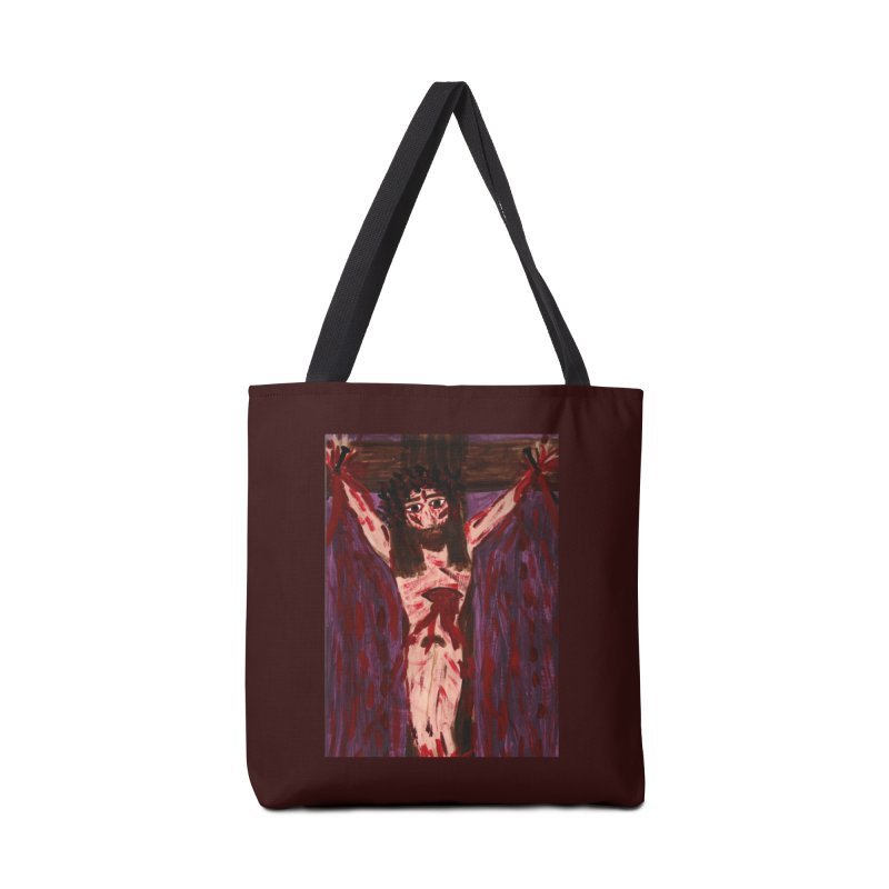 Patient Jesus Crucified Accessories Bag by Mary Kloska Fiat's Artist Shop