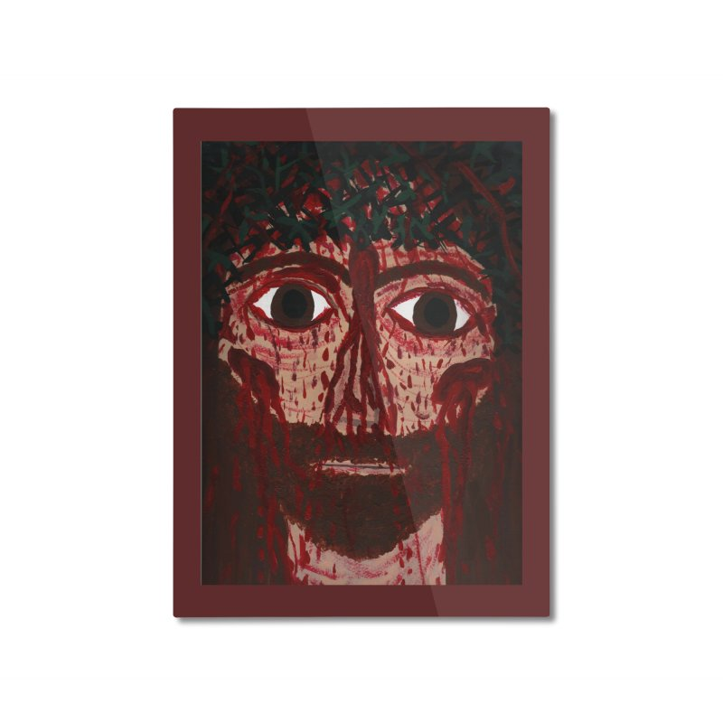 Holy Face of Jesus Crucified Home Mounted Aluminum Print by Mary Kloska Fiat's Artist Shop