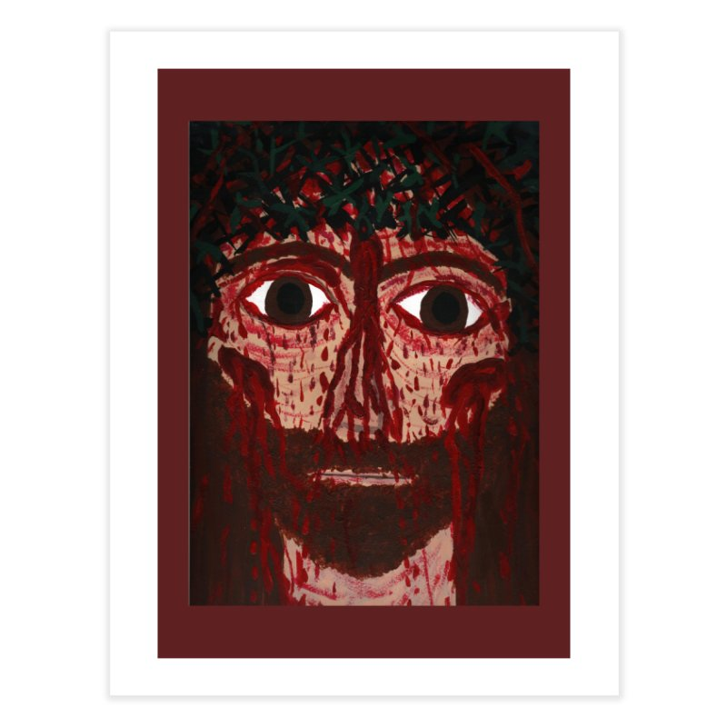 Holy Face of Jesus Crucified Home Fine Art Print by Mary Kloska Fiat's Artist Shop