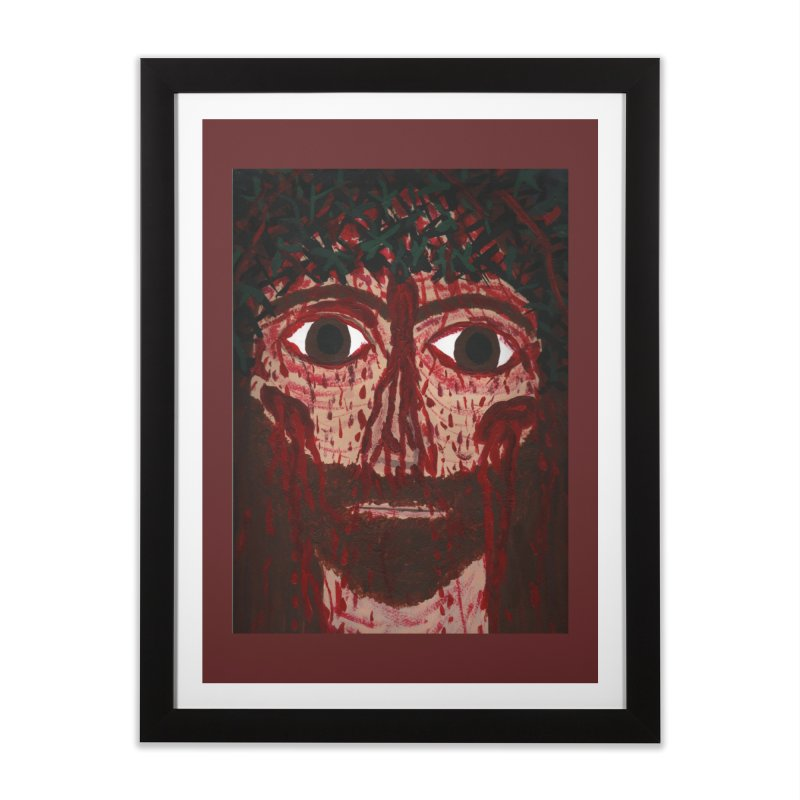 Holy Face of Jesus Crucified Home Framed Fine Art Print by Mary Kloska Fiat's Artist Shop