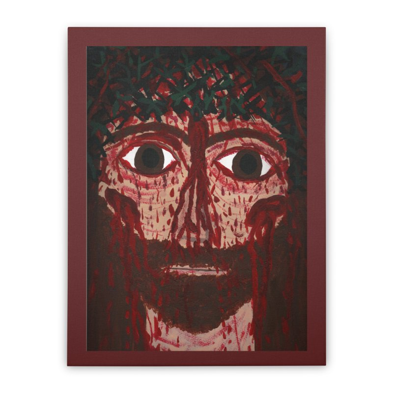 Holy Face of Jesus Crucified Home Stretched Canvas by Mary Kloska Fiat's Artist Shop