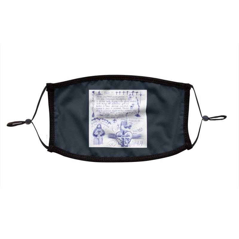 Psalm 131 Accessories Face Mask by Mary Kloska Fiat's Artist Shop