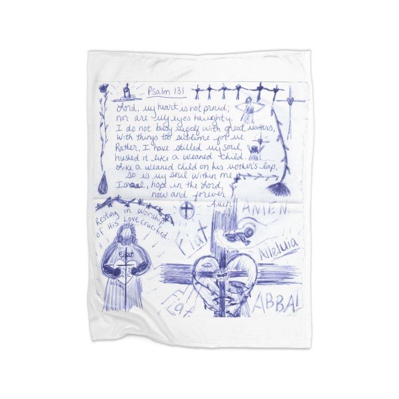 Psalm 131 Home Blanket by Mary Kloska Fiat's Artist Shop