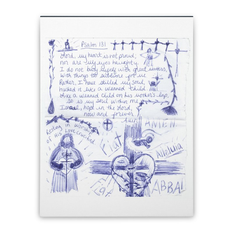 Psalm 131 Home Stretched Canvas by Mary Kloska Fiat's Artist Shop
