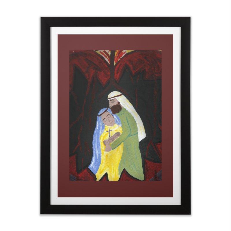 Holy Family Home Framed Fine Art Print by Mary Kloska Fiat's Artist Shop