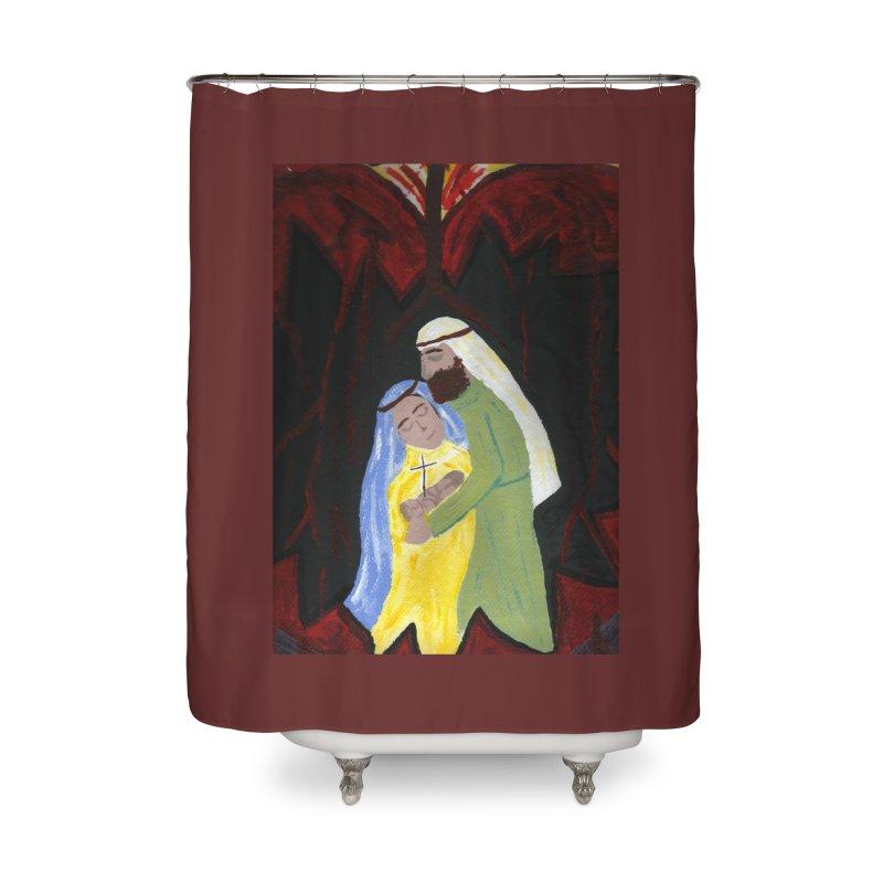 Holy Family Home Shower Curtain by Mary Kloska Fiat's Artist Shop