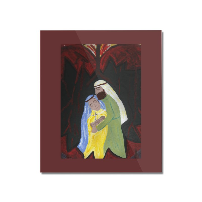 Holy Family Home Mounted Acrylic Print by Mary Kloska Fiat's Artist Shop
