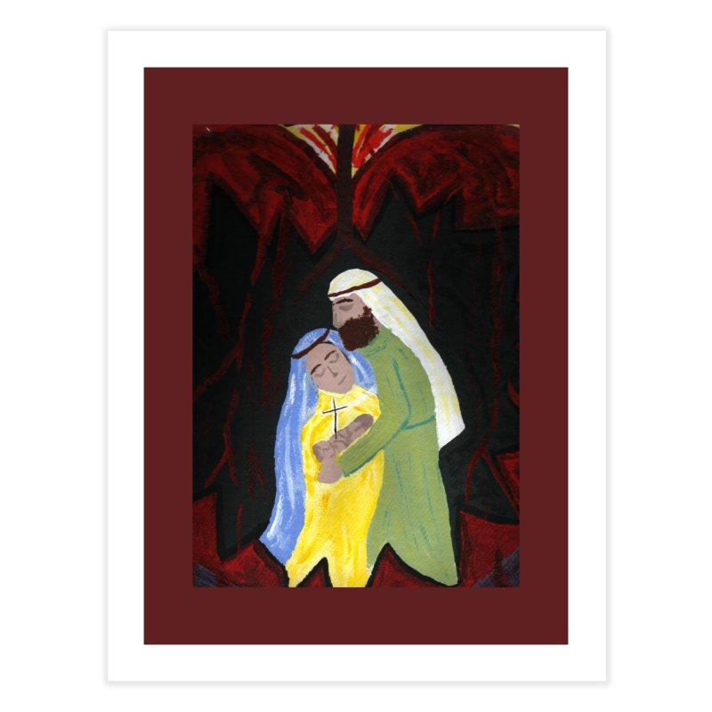 Holy Family Home Fine Art Print by Mary Kloska Fiat's Artist Shop