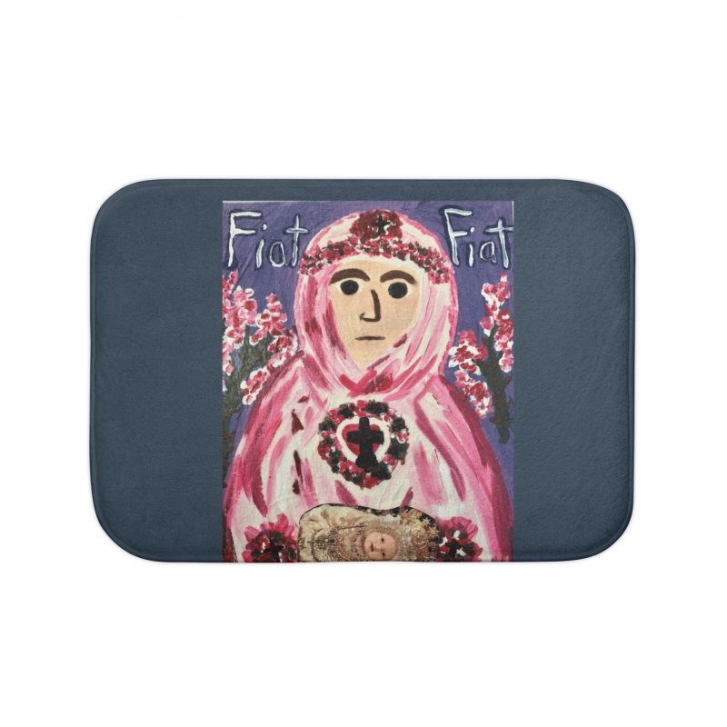 Infant Blessed Mother Mary Home Bath Mat by Mary Kloska Fiat's Artist Shop