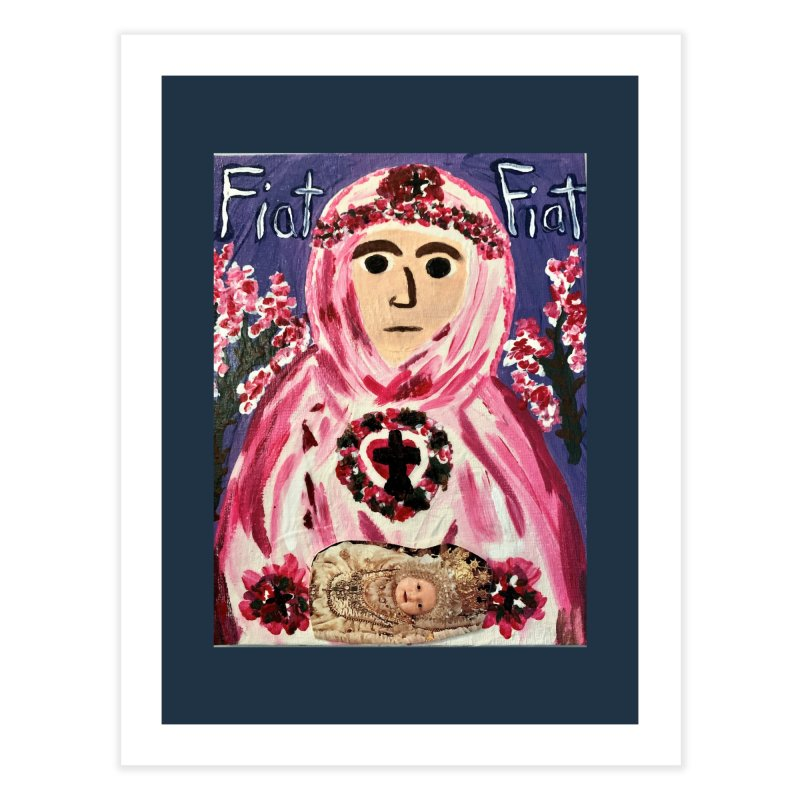 Infant Blessed Mother Mary Home Fine Art Print by Mary Kloska Fiat's Artist Shop