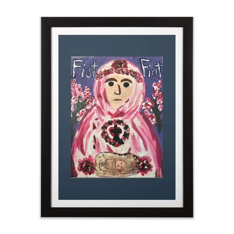 Infant Blessed Mother Mary Home Framed Fine Art Print by Mary Kloska Fiat's Artist Shop
