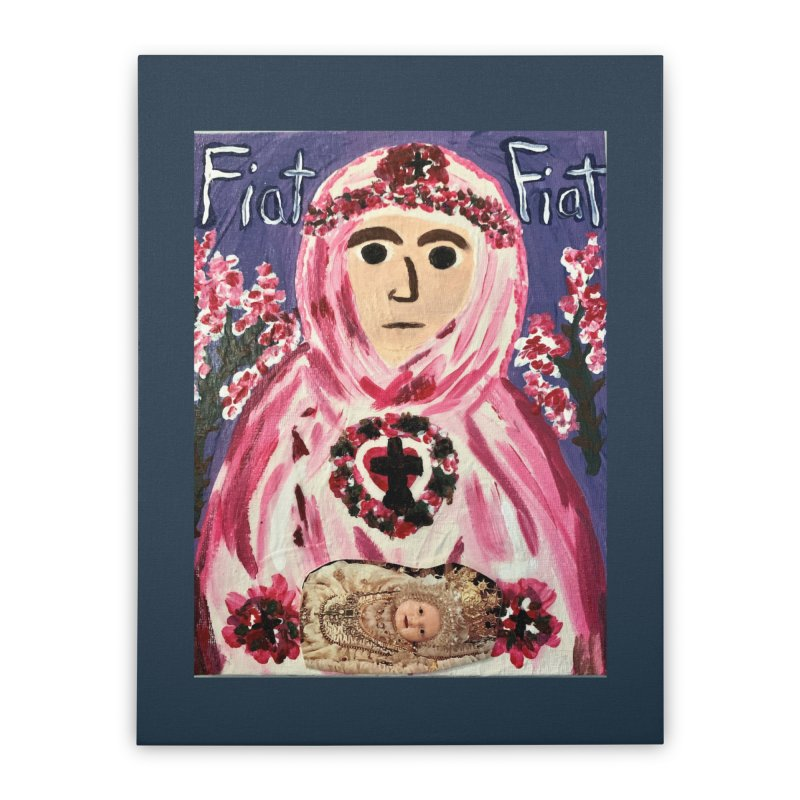 Infant Blessed Mother Mary Home Stretched Canvas by Mary Kloska Fiat's Artist Shop