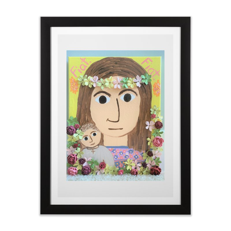 Flowering Mary Home Framed Fine Art Print by Mary Kloska Fiat's Artist Shop