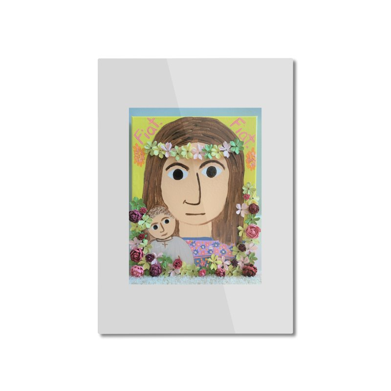 Flowering Mary Home Mounted Aluminum Print by Mary Kloska Fiat's Artist Shop