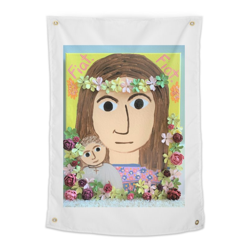 Flowering Mary Home Tapestry by Mary Kloska Fiat's Artist Shop