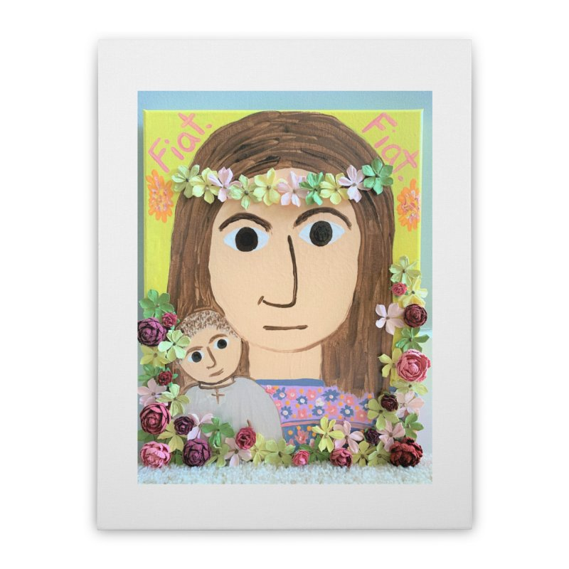 Flowering Mary Home Stretched Canvas by Mary Kloska Fiat's Artist Shop