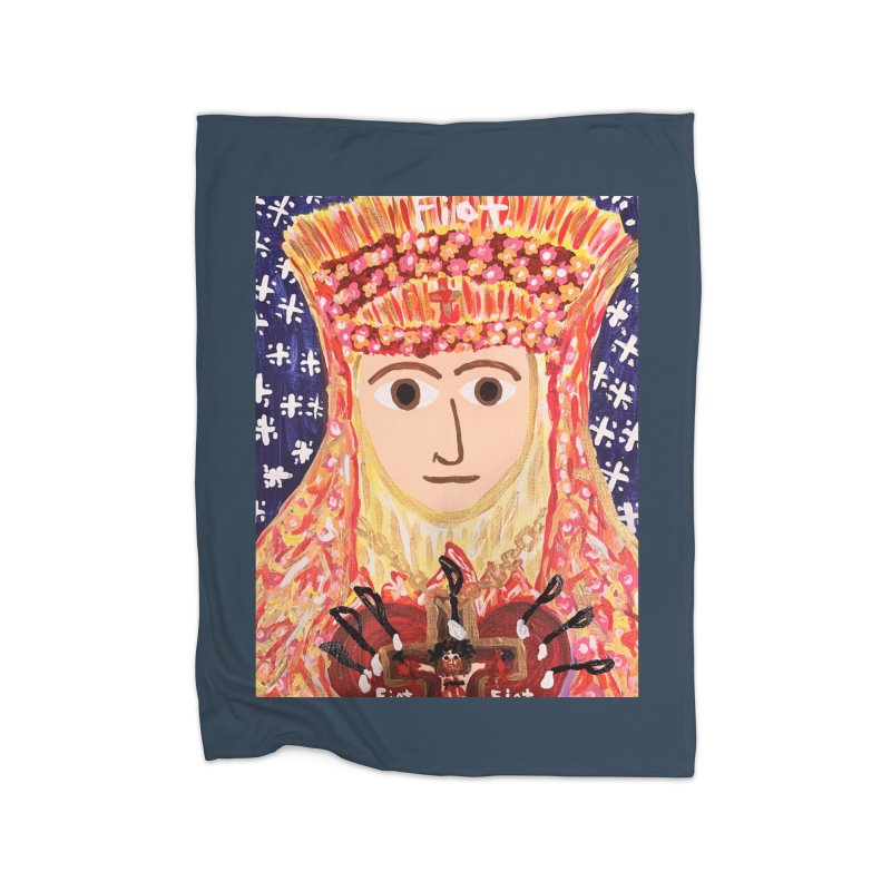 Queenship of Mary Home Blanket by Mary Kloska Fiat's Artist Shop