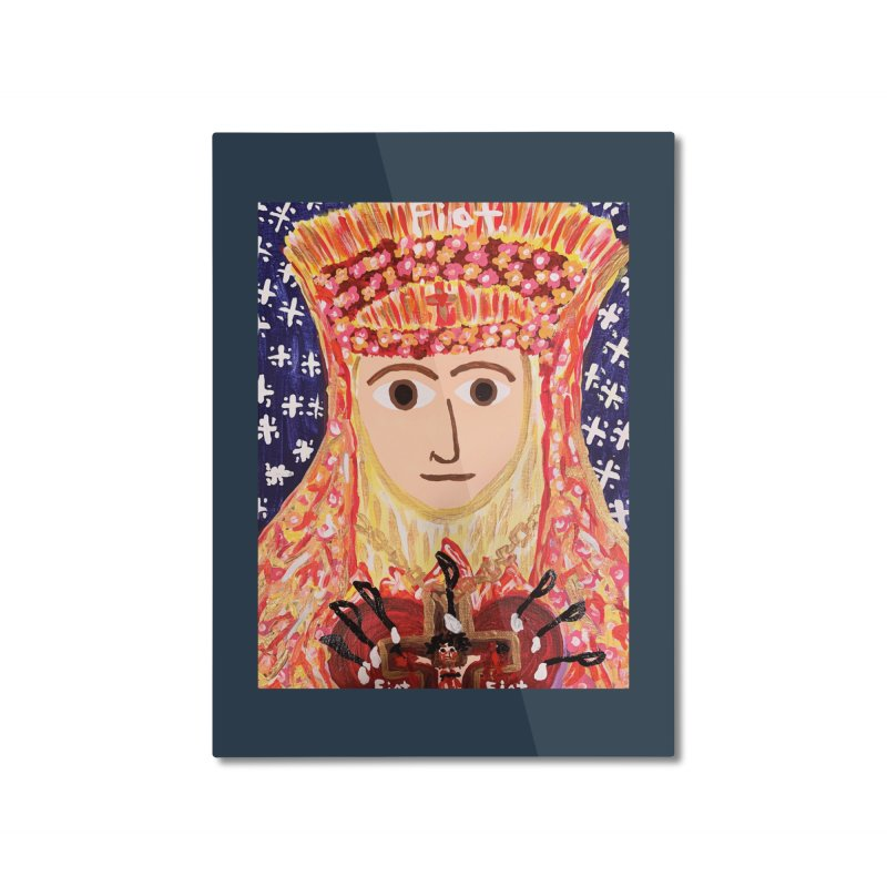 Queenship of Mary Home Mounted Aluminum Print by Mary Kloska Fiat's Artist Shop