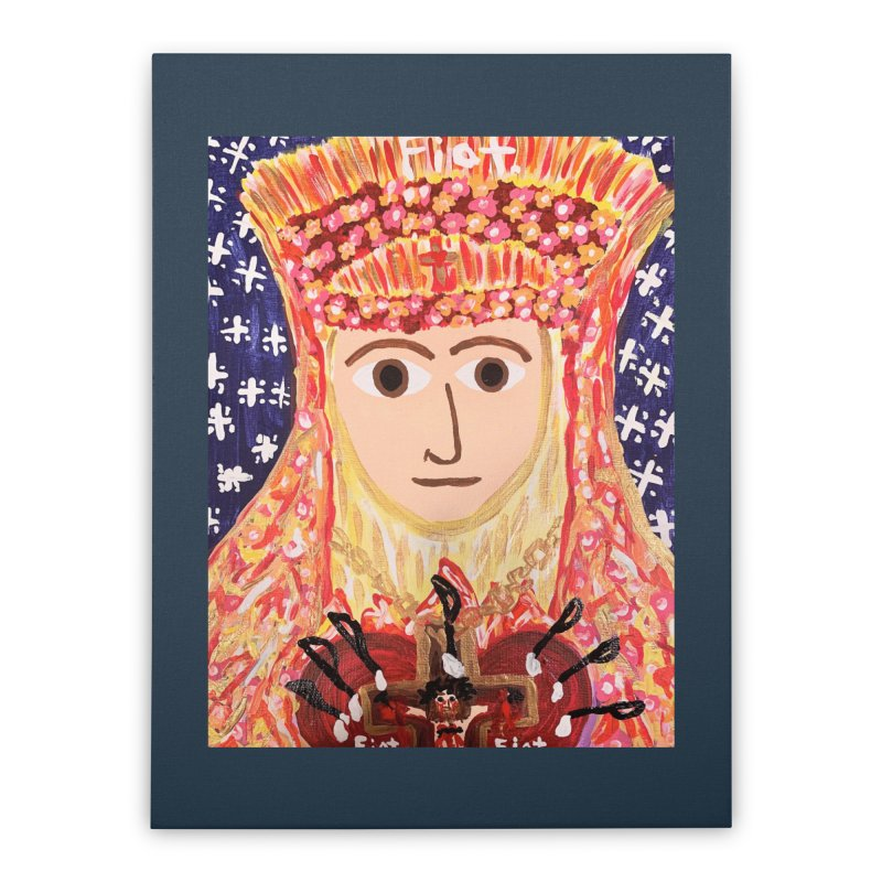 Queenship of Mary Home Stretched Canvas by Mary Kloska Fiat's Artist Shop